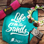 Life on the Sands Beach Bag - Agua