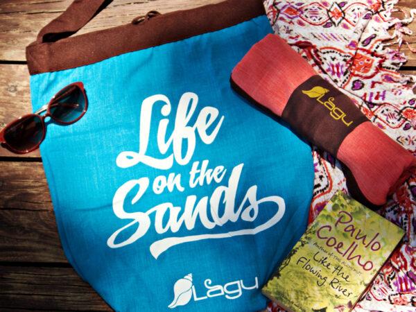 Life on the Sands Beach Bag - Celeste