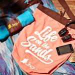 Life on the Sands Beach Bag - Naranja