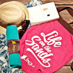 Life on the Sands Beach Bag - Rosa