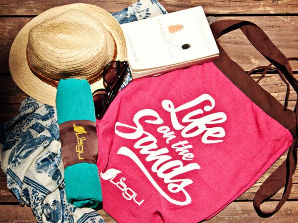 Life on the Sands Beach Bag - Rosa