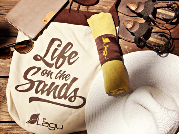 Life on the Sands Beach Bag - Sand